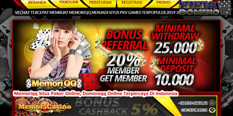 Memoriqq Situs Poker Online, Dominoqq Online Terpercaya Di Indonesia
